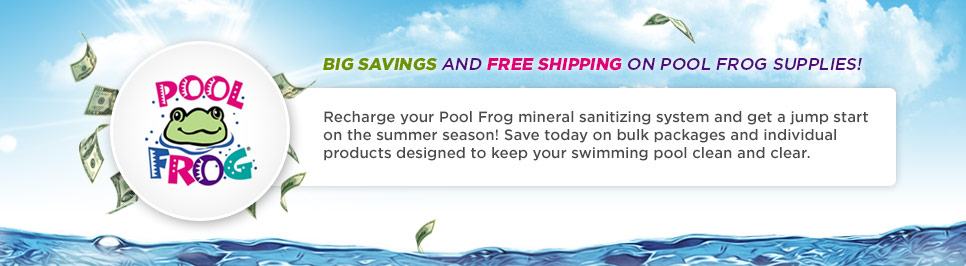 The more you spend on Pool Frog, the more you save!